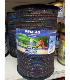 RUBAN RFM 40 4CM 200M MARRONE 7 COND DI GROSSO DIAMETRO