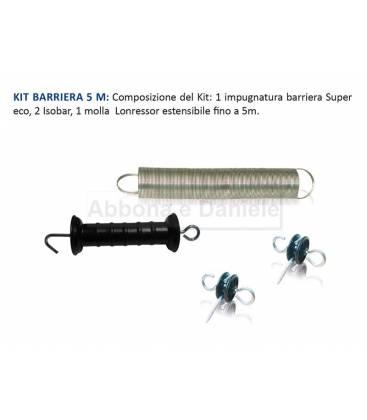 KIT BARRIERA CON MOLLA 5 M X CANC + 2 ISOBAR